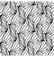 Abstract geometric monochrome pattern with unusual vector image vector image
