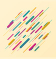 abstract of colorful stripe line pattern vector image vector image