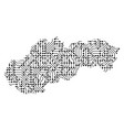 abstract schematic map of slovakia from the black vector image vector image