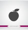 apple icon simple fruit vector image vector image