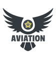 Aviation icon logo flat style
