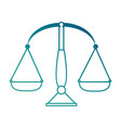 balance measure isolated icon vector image vector image