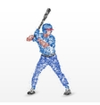 baseball hockey stick abstraction vector image vector image