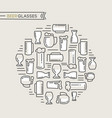 beer glasses collection vector image vector image