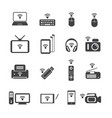 big data icon set wireless technology vector image vector image