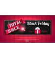 Black Friday Totale Sale shining horizontal vector image vector image