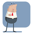 Boss listens attentively vector image vector image