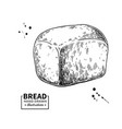 bread drawing bakery product sketch vector image vector image