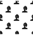 Brunette icon in black style isolated on white vector image vector image