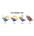 car conveyor assembly production line on factory