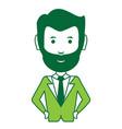 cartoon businessman icon vector image