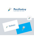 celebration pop logotype with business card vector image