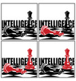 chess game and concepts vector image vector image
