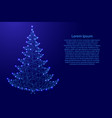 christmas tree and happy new year decoration from vector image vector image