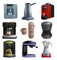 coffee machine coffeemaker and coffee vector image