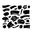 collection of black brush strokes and line vector image