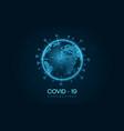 covid19 19 corona virus outbreak earth 3d style vector image