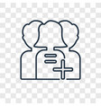 customer concept linear icon isolated on vector image