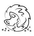 Cute sleepy fox logo vector image