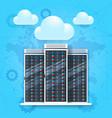 data center icon cloud technology concept web vector image
