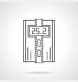 digital thermostat flat line icon vector image