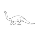 Dinosaurs on white background vector image vector image