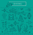 DIVING design concept vector image