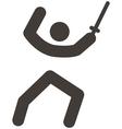 fencing icon vector image vector image
