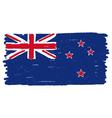 Flag of New Zealand handmade vector image