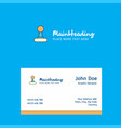 gear box logo design with business card template vector image