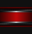 geometric design with metal grille and red relief vector image vector image