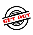 Get Out rubber stamp vector image vector image
