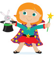 girl magician vector image