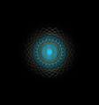 gold circle mandala blue sacred geometry logo vector image vector image