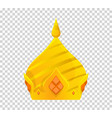 gold crown icon crown awards for winners vector image vector image