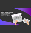 graphic designer website banner template vector image vector image