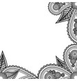 hand drawn flowers banner handdrawn ornate for vector image