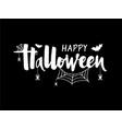 happy halloween banner greeting card invitation vector image