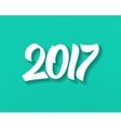 Happy New Year 2017 flat retro background vector image
