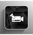 icon video camera isolated footage square vector image vector image