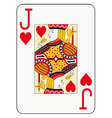 Jumbo index jack of hearts vector image vector image