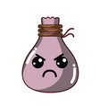 kawaii cute angry cloth bag vector image vector image