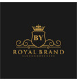 letter initial luxurious brand logo template vector image vector image