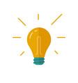 light bulb idea icon flat cartoon vector image