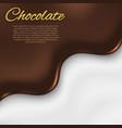 liquid chocolate background vector image vector image