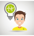 man and environment isolated icon design vector image vector image