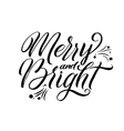 Merry Christmas Calligraphy Greeting Card Black vector image vector image