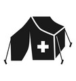 migrant help tent icon simple style vector image vector image