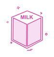 milk icon design vector image