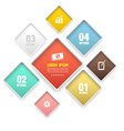 Modern round rectangle soft color vector image